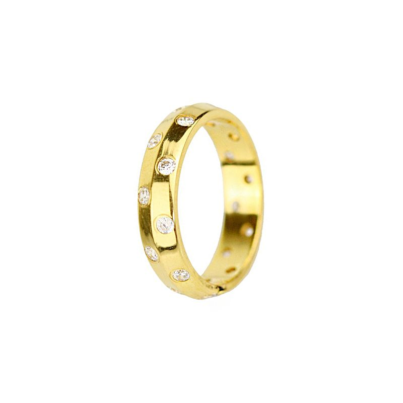 22k Gold CZ Wrap Band