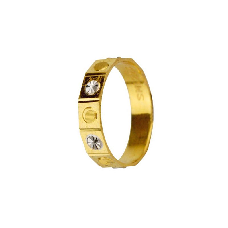 22k Gold Two-Tone Design Band
