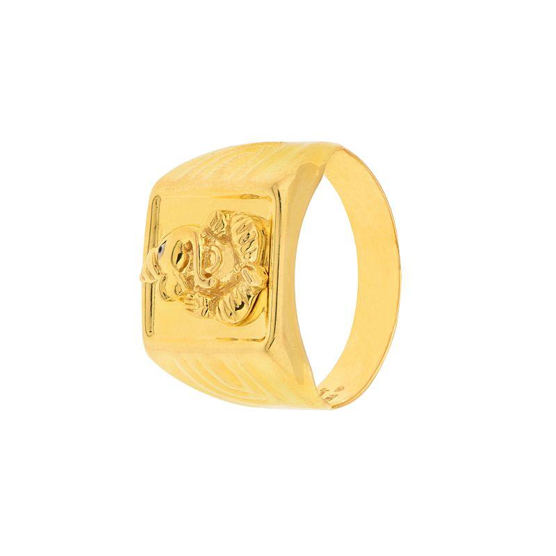 22k Gold Men's Ganesh Gold Ring