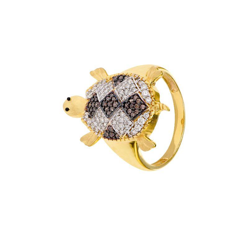 22k Gold Men's Gold Turtle Ring