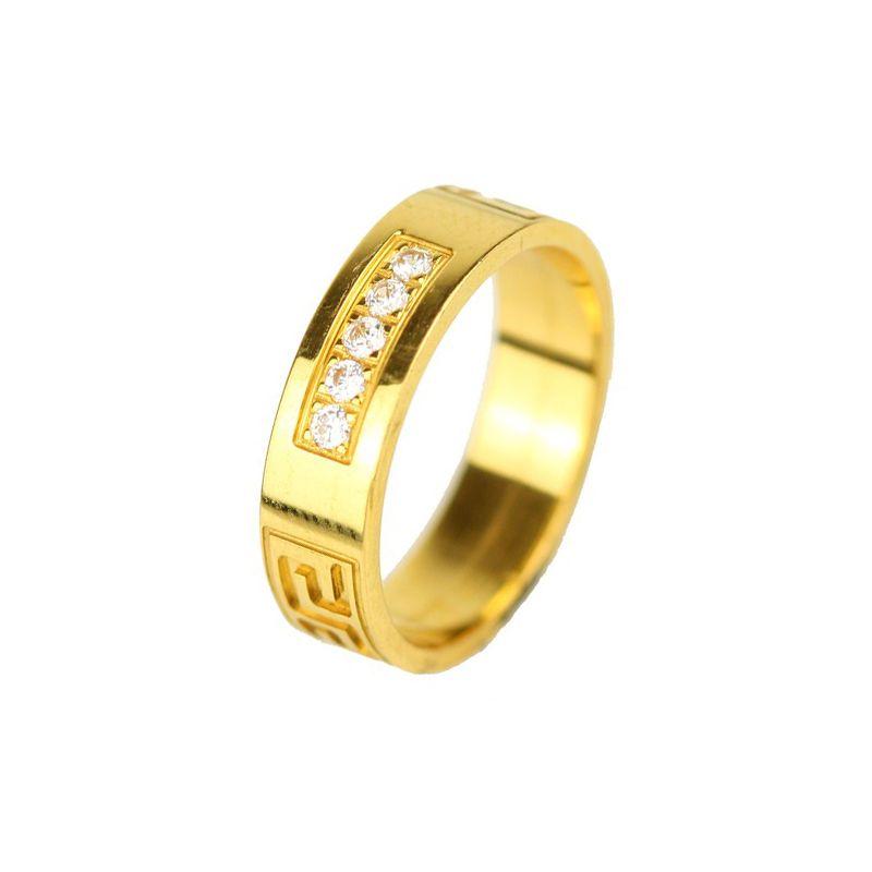 22k Gold Designer CZ Band
