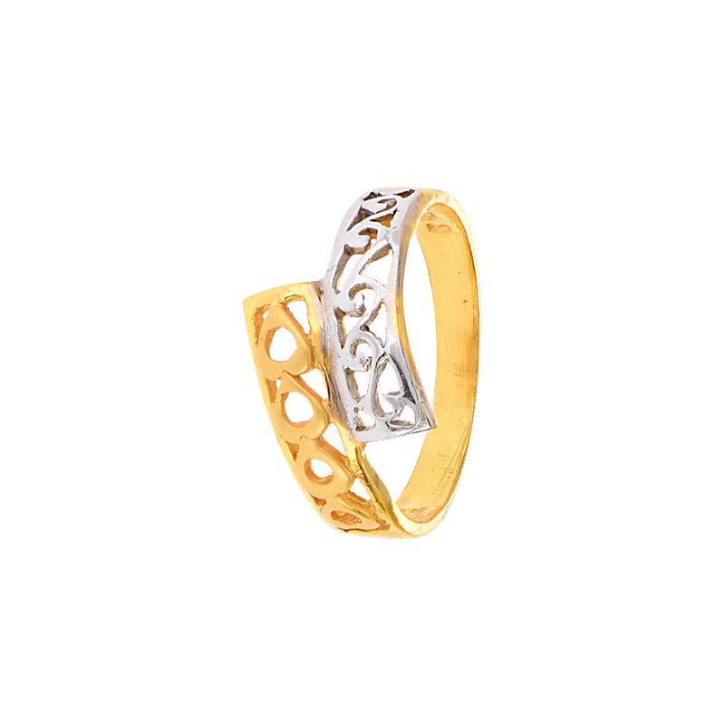 22k Gold Filigree 2-Tone Wrap Ring