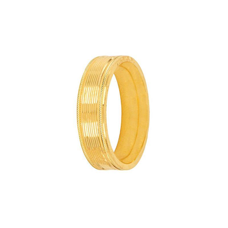 22k Gold Special Order : Milgrain Wedding Band [10]