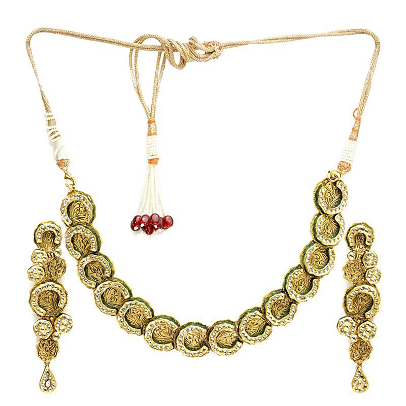 22k Gold Circular Design Antique Set