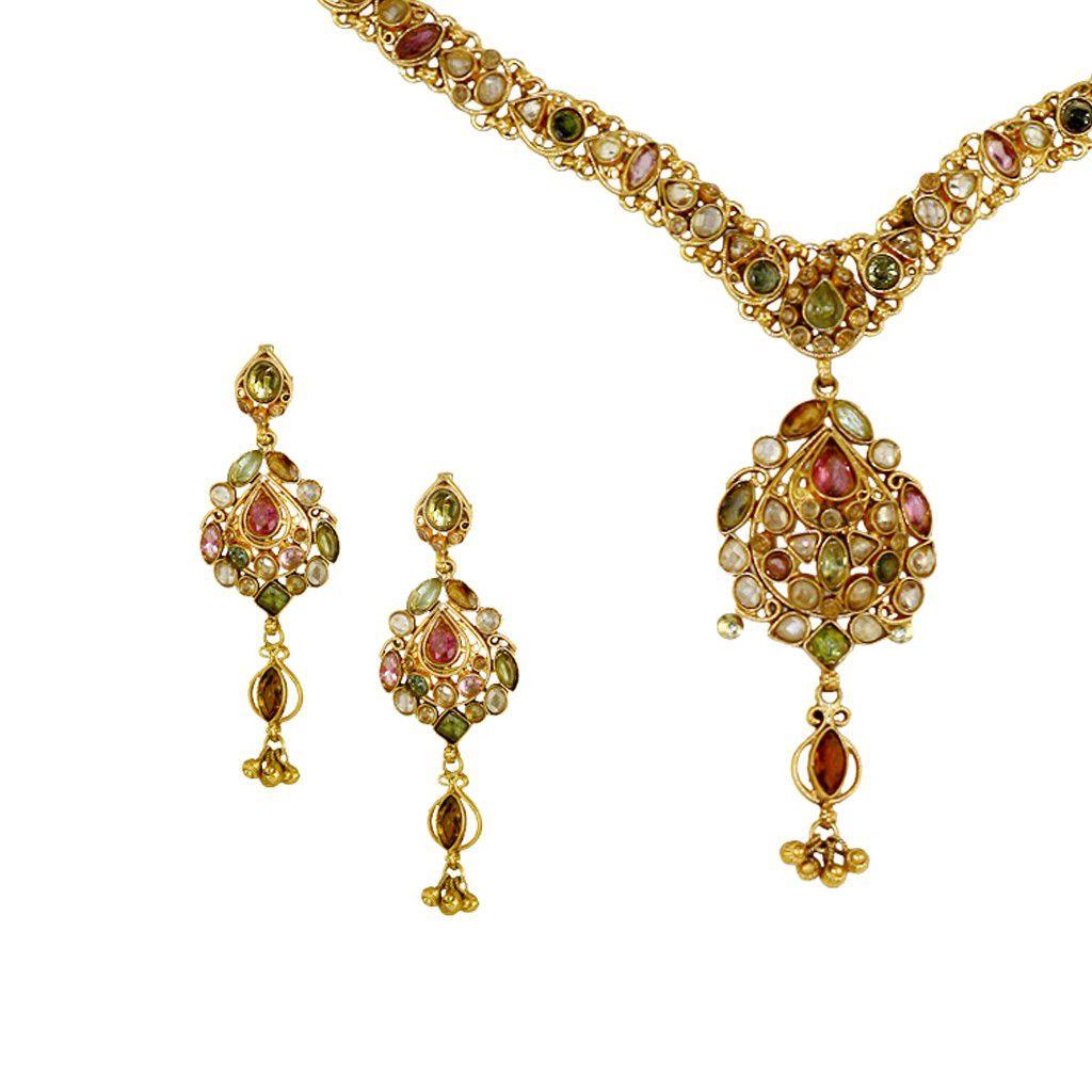 22k Gold Colorful Symphony Necklace