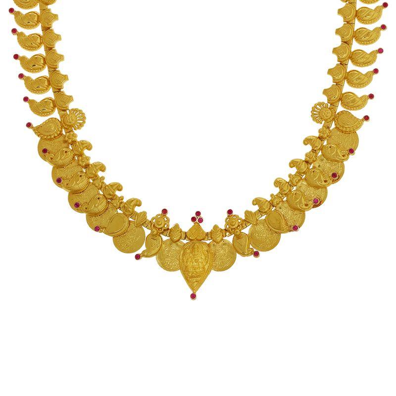 22k Gold 2-in-1 Mango Kasu Necklace