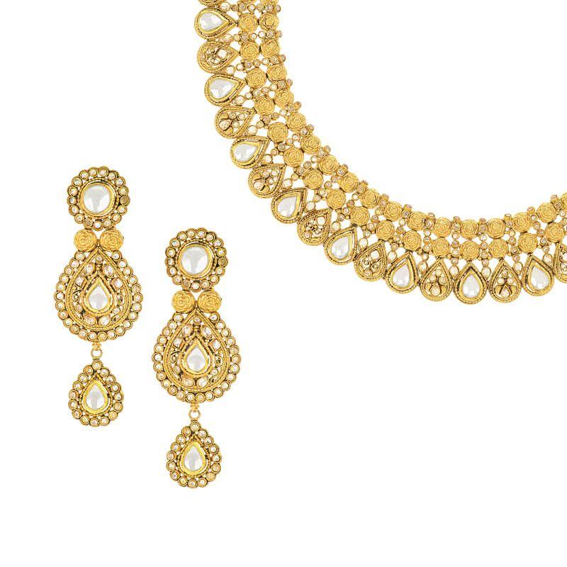 22k Gold Kundan Gold Designer Necklace