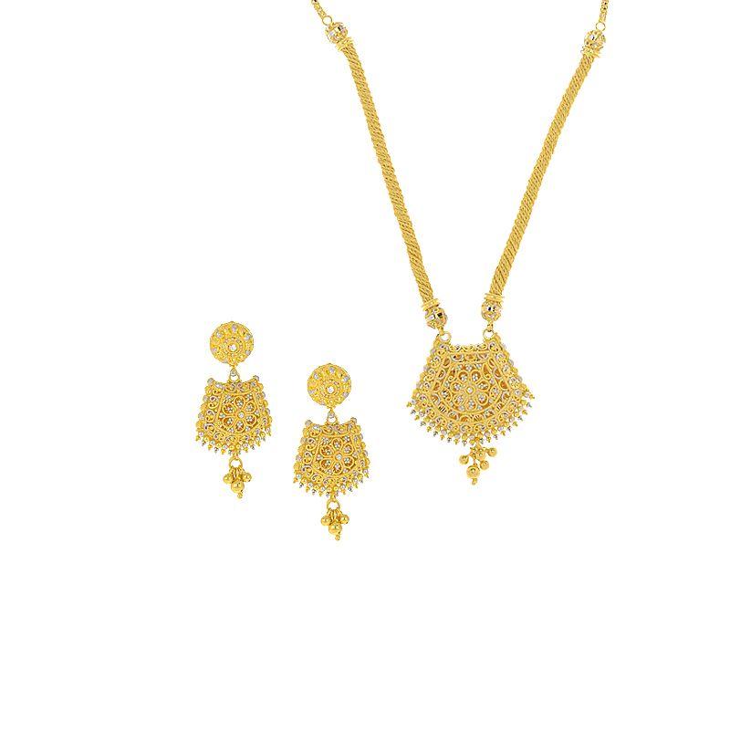 22k Gold Two-Tone Dokiya Necklace