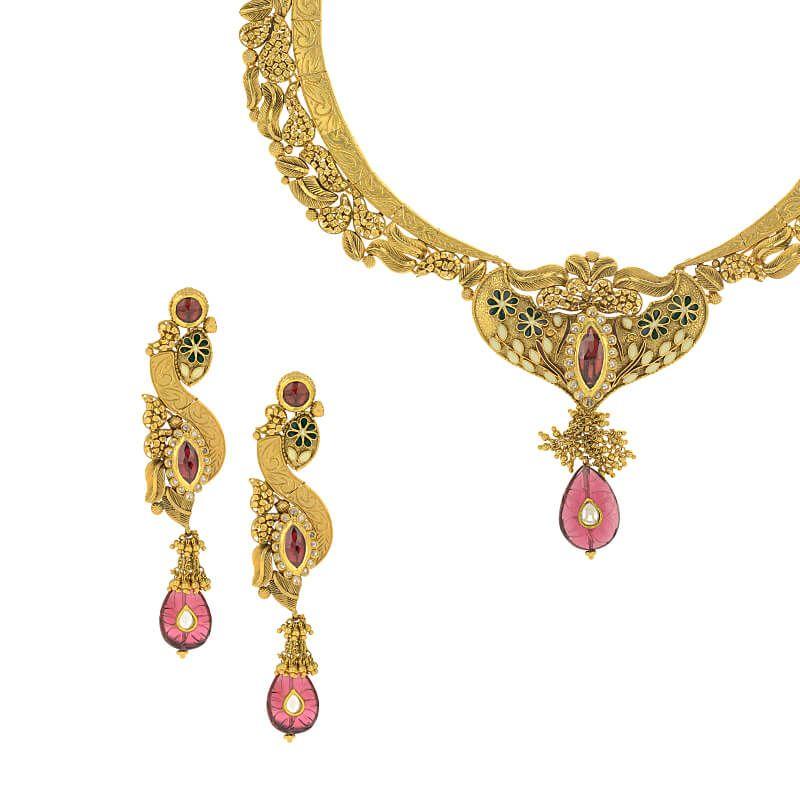 22k Gold Designa Antique Collar Necklace