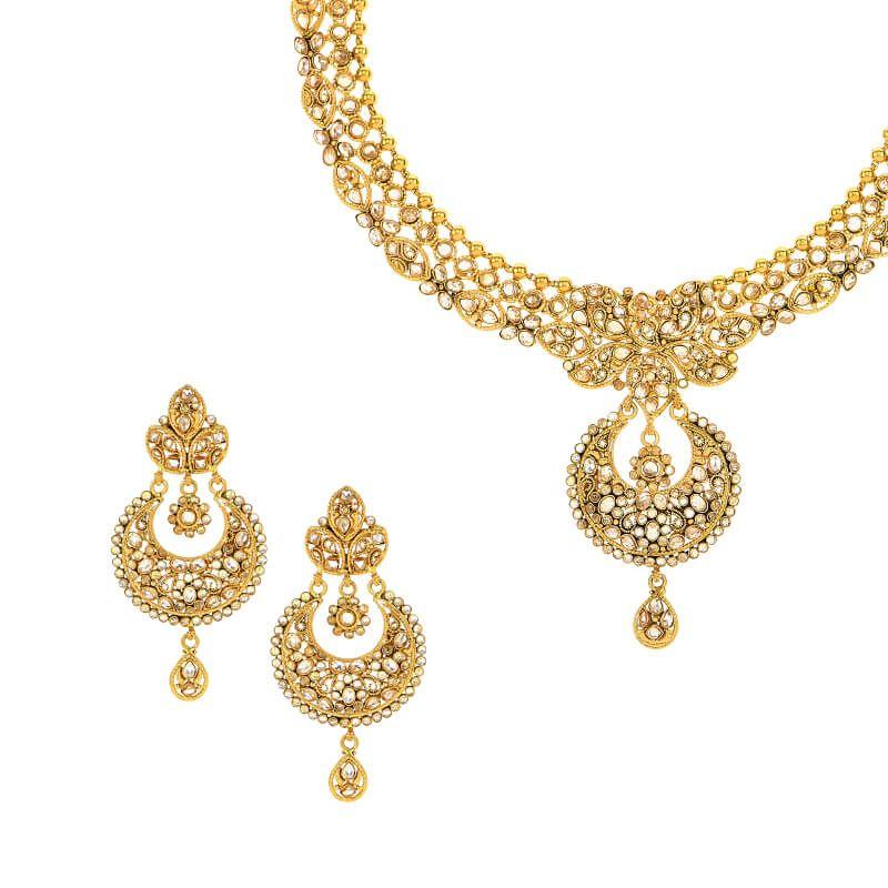 22k Gold Gold Polki Necklace