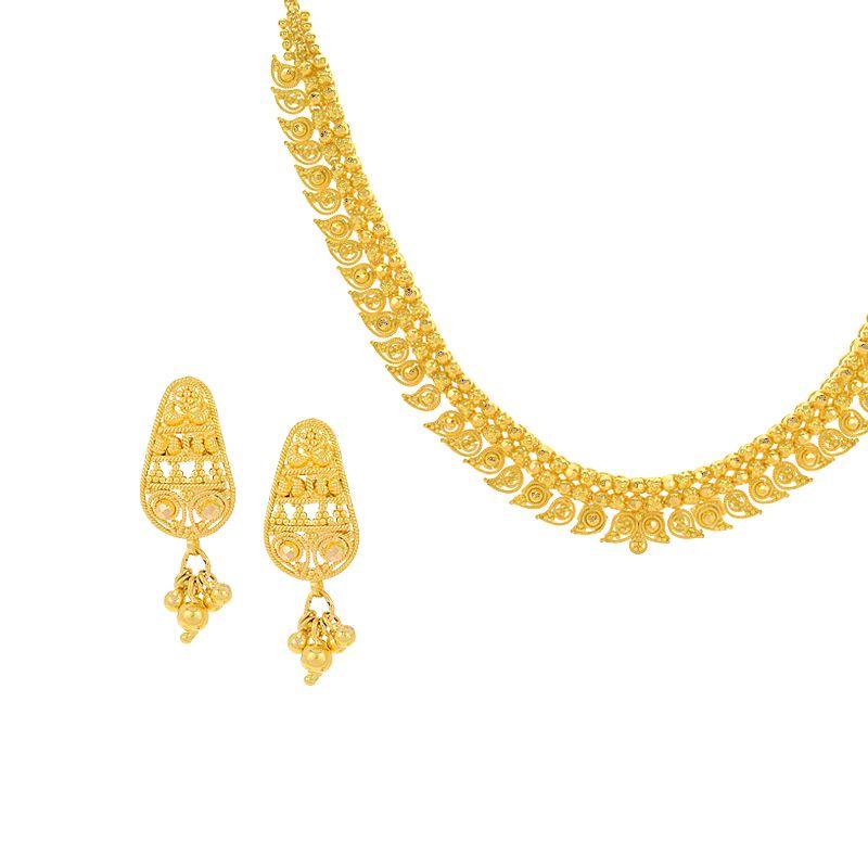 22k Gold Mango Mala Chain Necklace