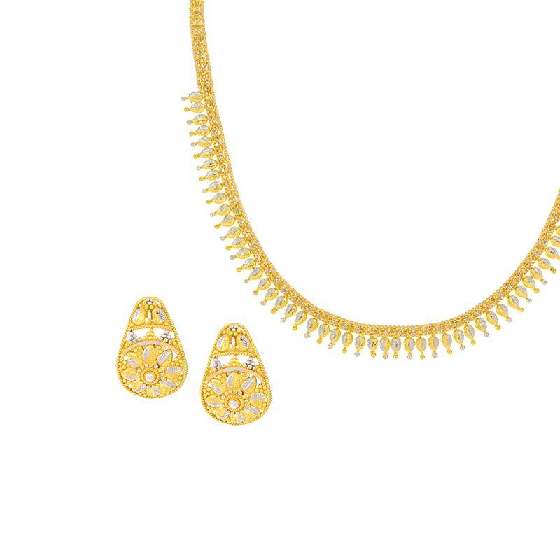 22k Gold Sleek Dokiya Chain Necklace
