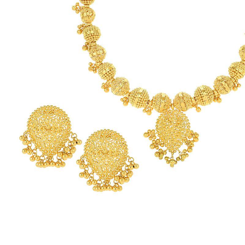 22k Gold Divine Filigree Collar Necklace