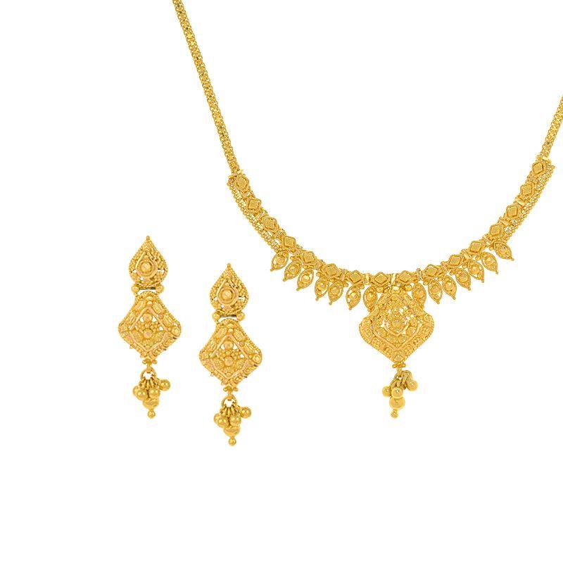 22k Gold Filigree Gold Necklace
