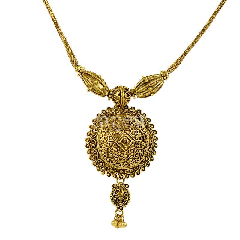 22k Gold Petite Antique Necklace