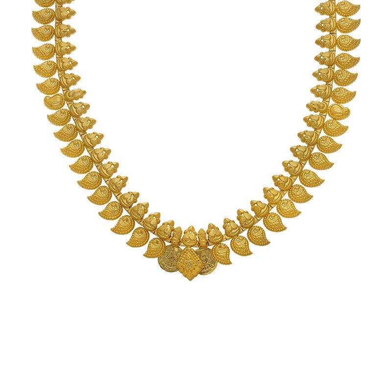 22k Gold 2-in-1 Mango Kasu Haram