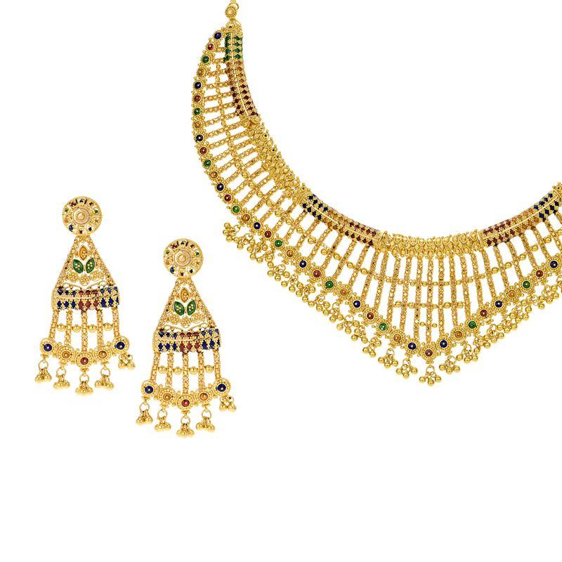22k Gold 22K Gold Necklace Set