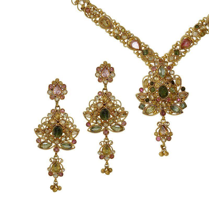 22k Gold Meenakshi Antique Necklace