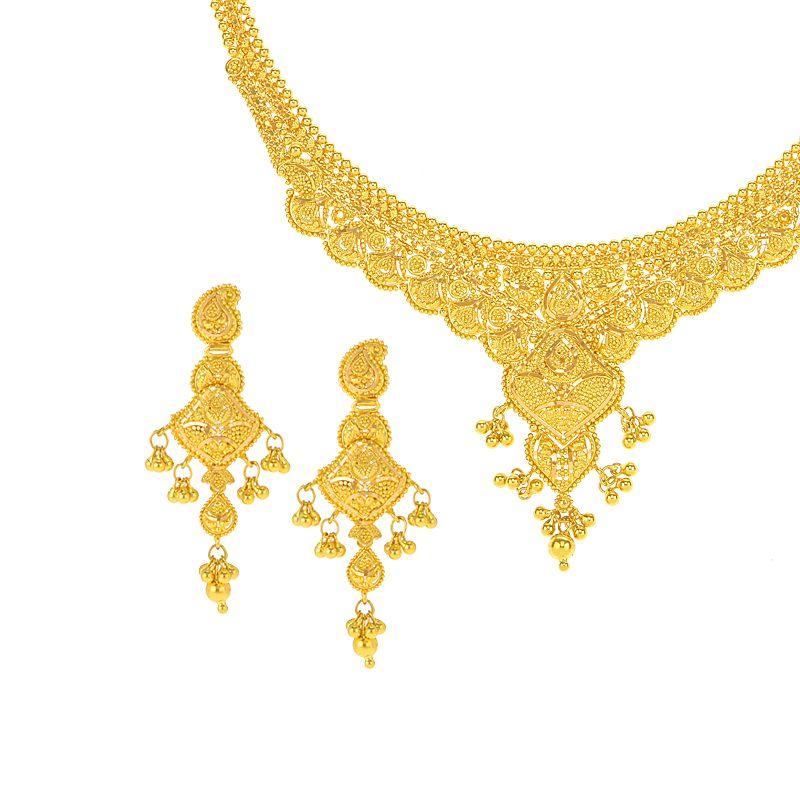 22k Gold Filigree  Collar Necklace