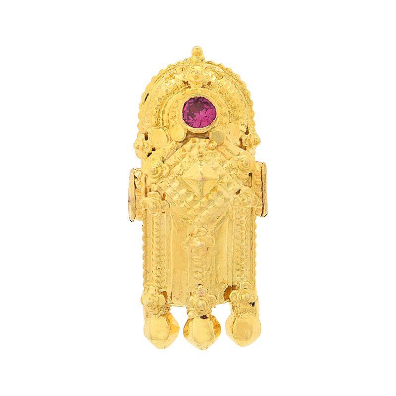 22k Gold 3 Leg Diamond Thali