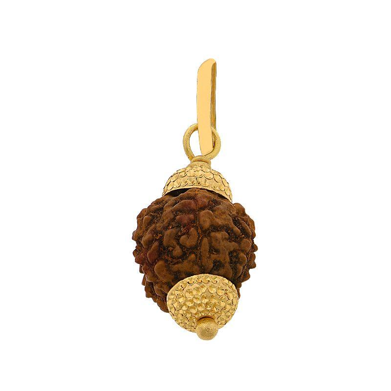 22k Gold Gold Rudraksha Pendant