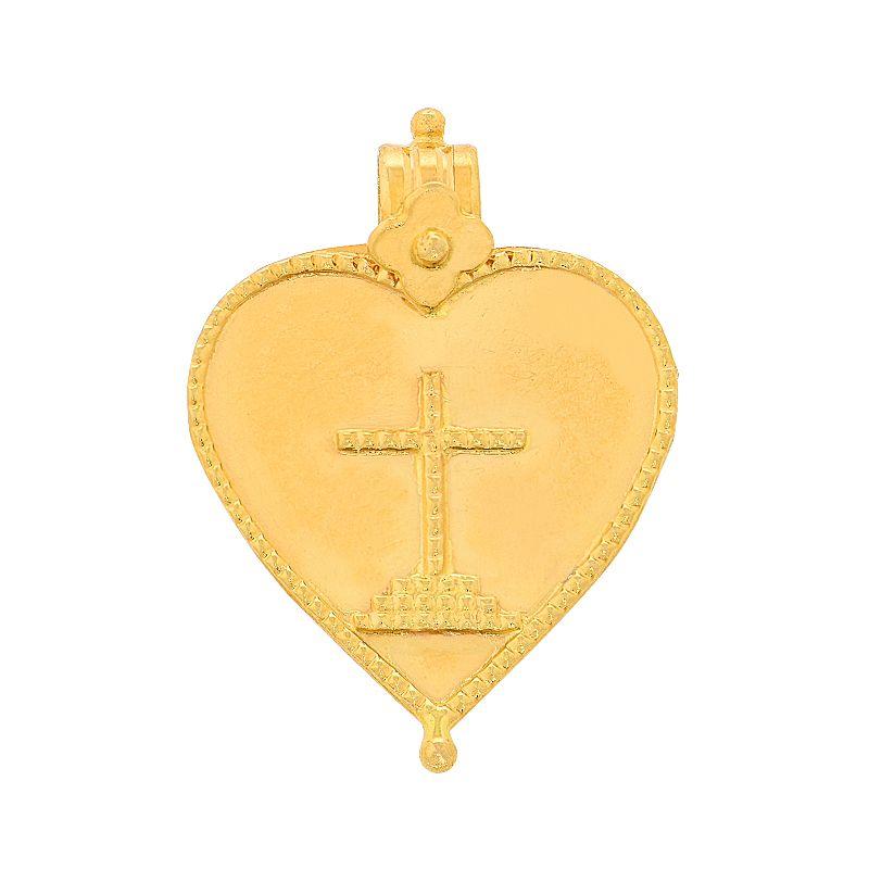 22k Gold Christian Cross Thali