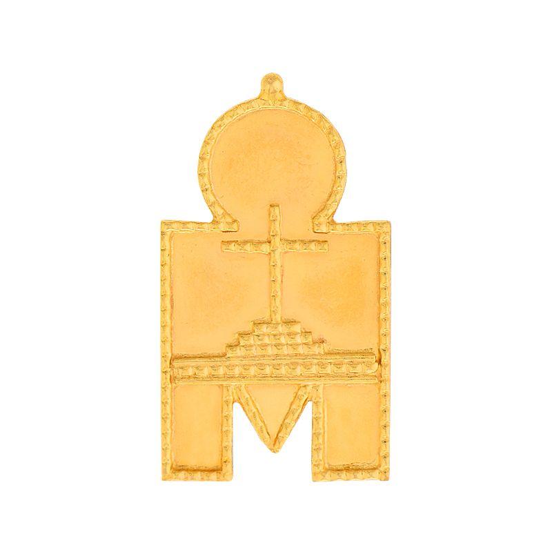 22k Gold Cross Thali Pendant