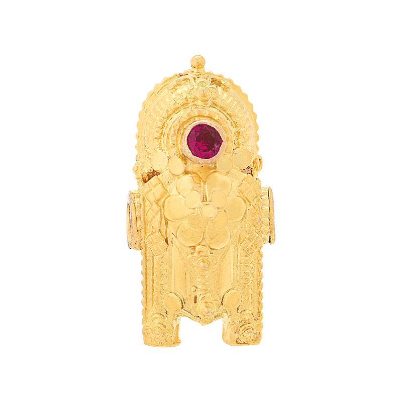 22k Gold 2 Leg Diamond Thali