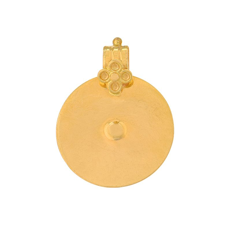 22k Gold Plain Bottu Thali Pendant