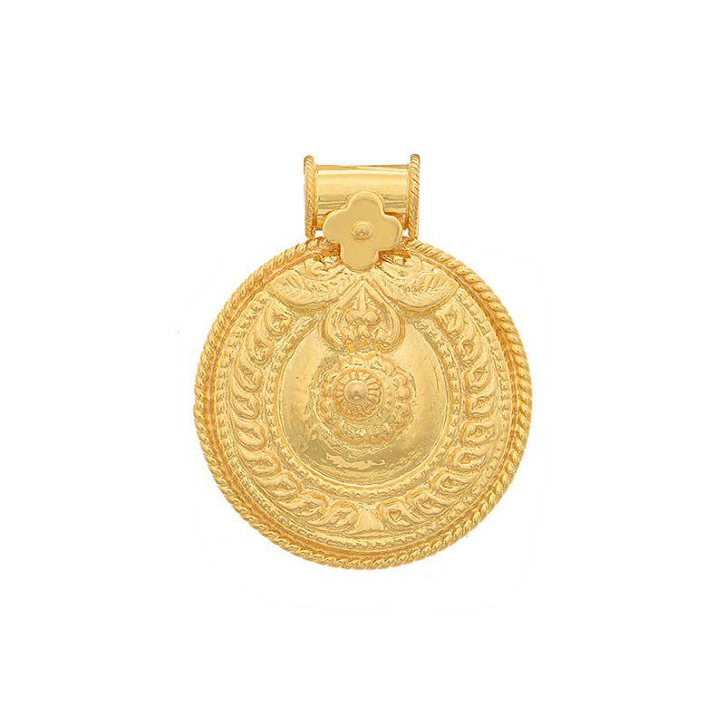 22k Gold Nagas Bottu Thali Pendant