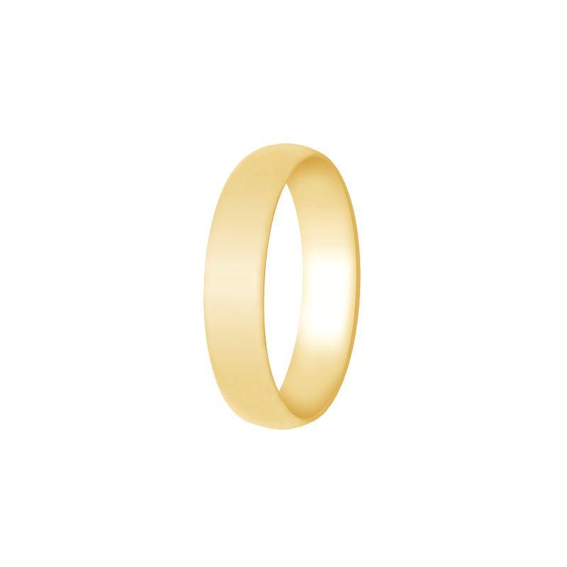 22k Gold Half Round Light Weight Band