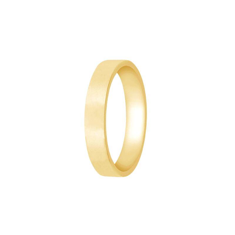 22k Gold Flat Light Weight Band