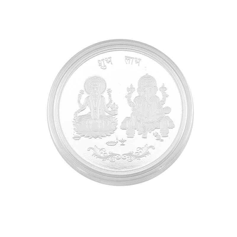 0.999 Silver Lakshmi Ganesh Pamp Coin- 100G