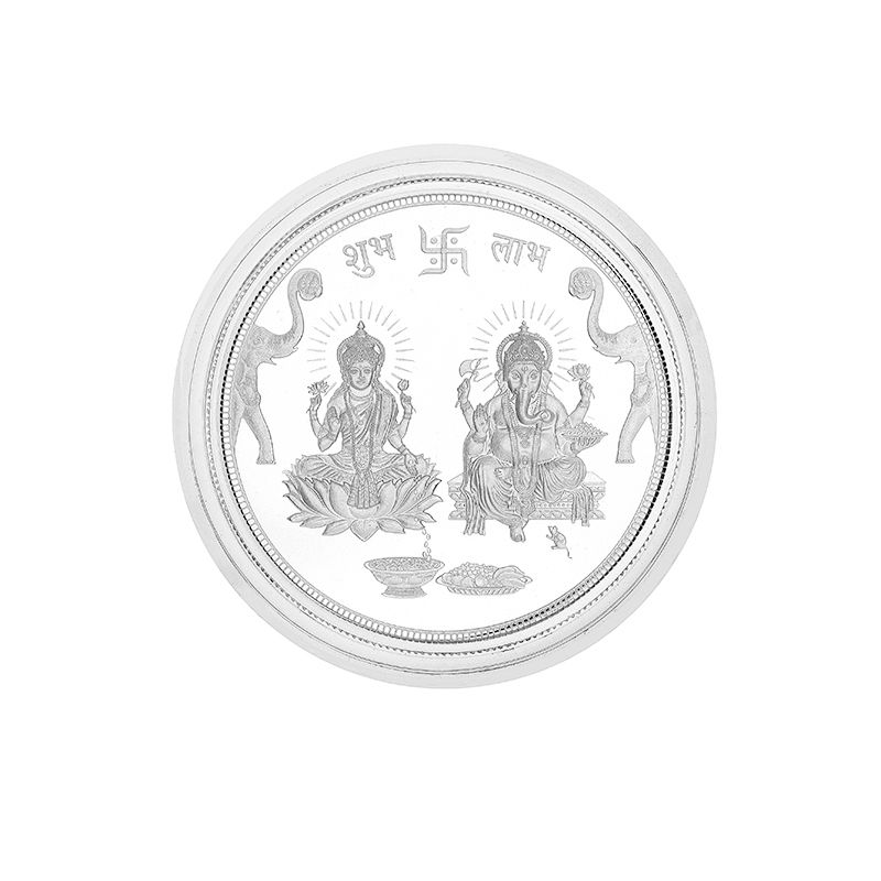 0.999 Silver Lakshmi Ganesh Pamp Coin-20G