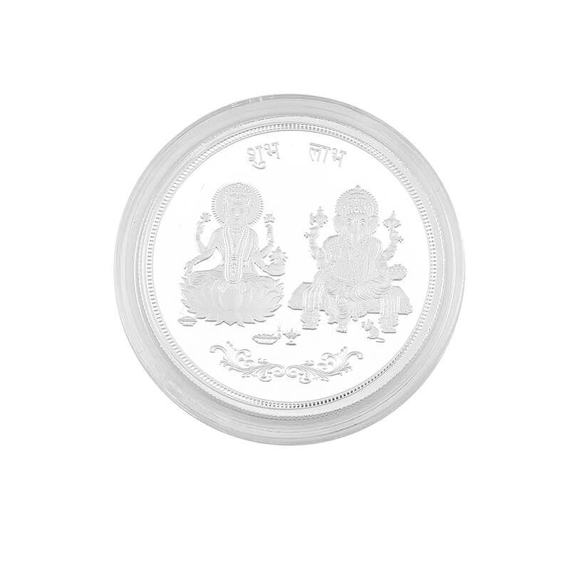 0.999 Silver Lakshmi Ganesh Pamp Coin - 1oz