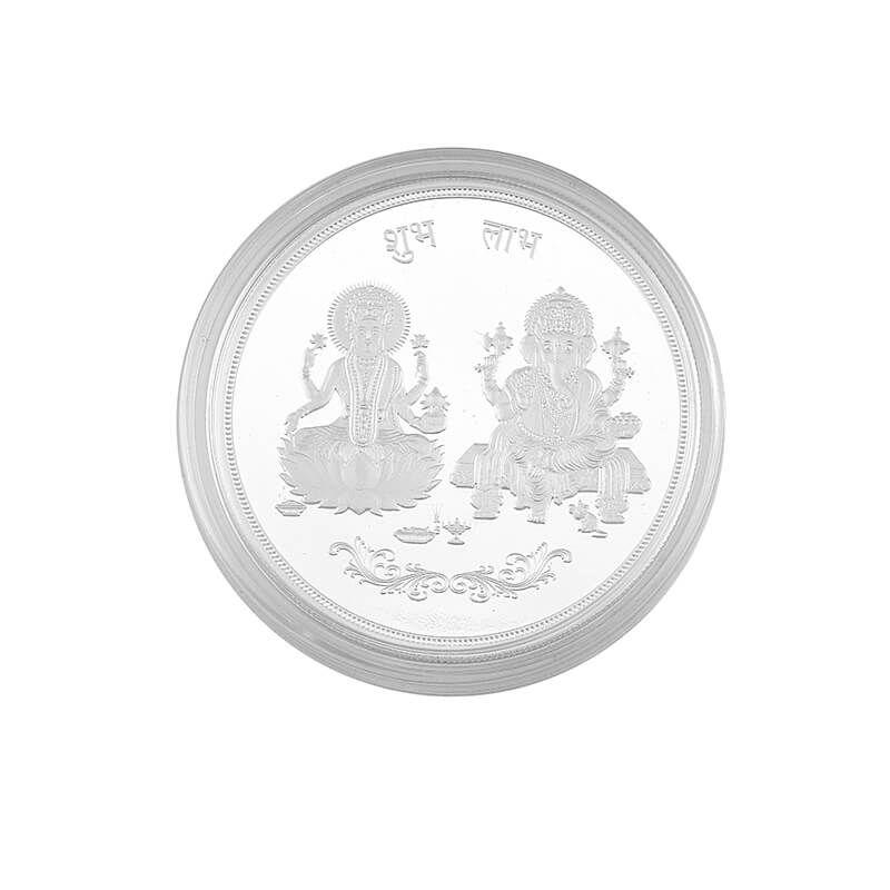 0.999 Silver Lakshmi Ganesh Pamp Coin - 50G
