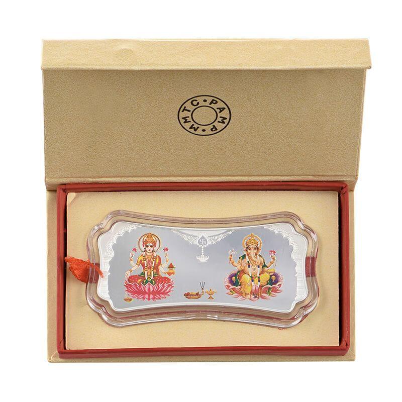 0.999 Silver Lakshmi Ganesh Special Pamp Coin - 50G