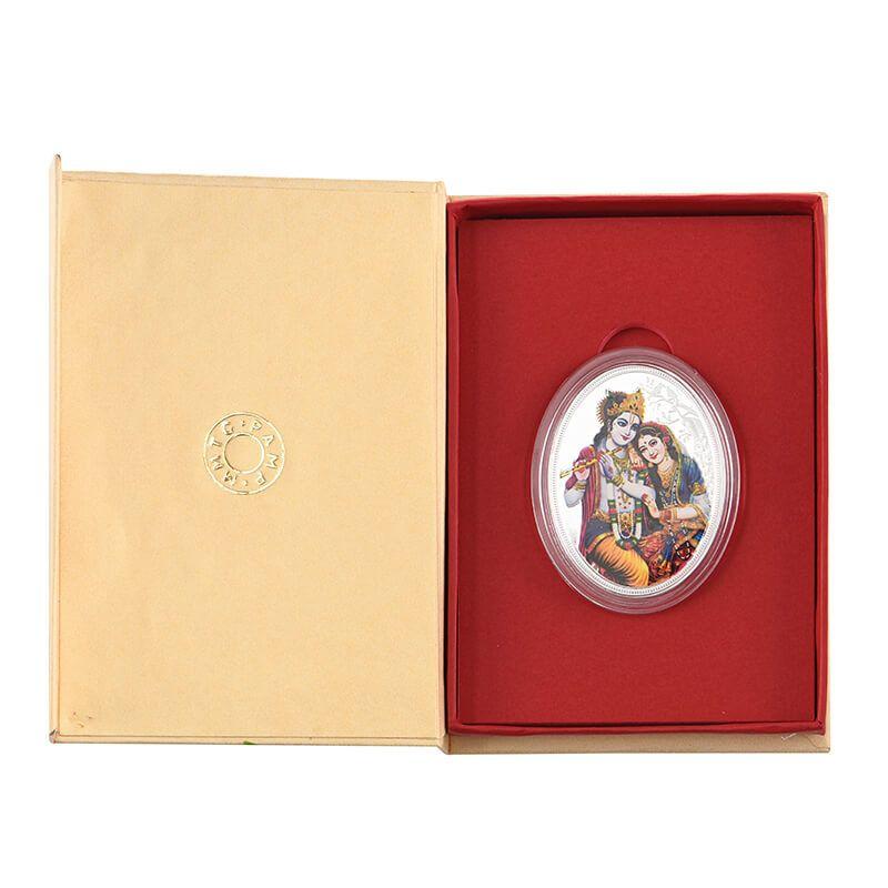 0.999 Silver Radha Krishna Pamp Coin - 31.1G