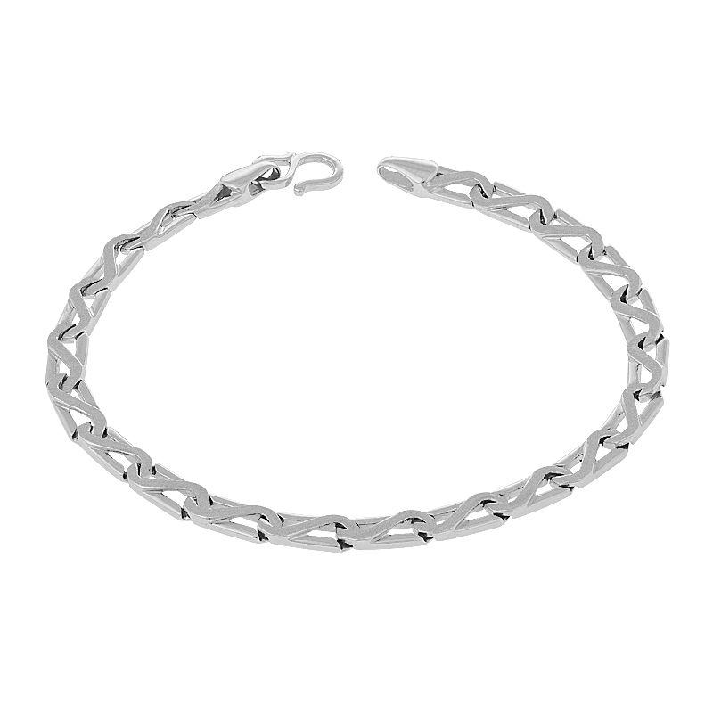 950 Platinum Zig Zag Links Bracelet