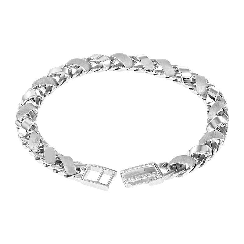 950 Platinum Interwoven Wheat Platinum Bracelet