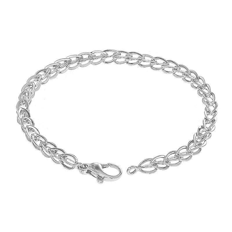 950 Platinum Light Platinum Spiga Bracelet