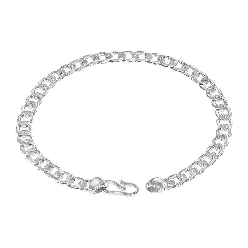 950 Platinum Platinum Curb Link Bracelet