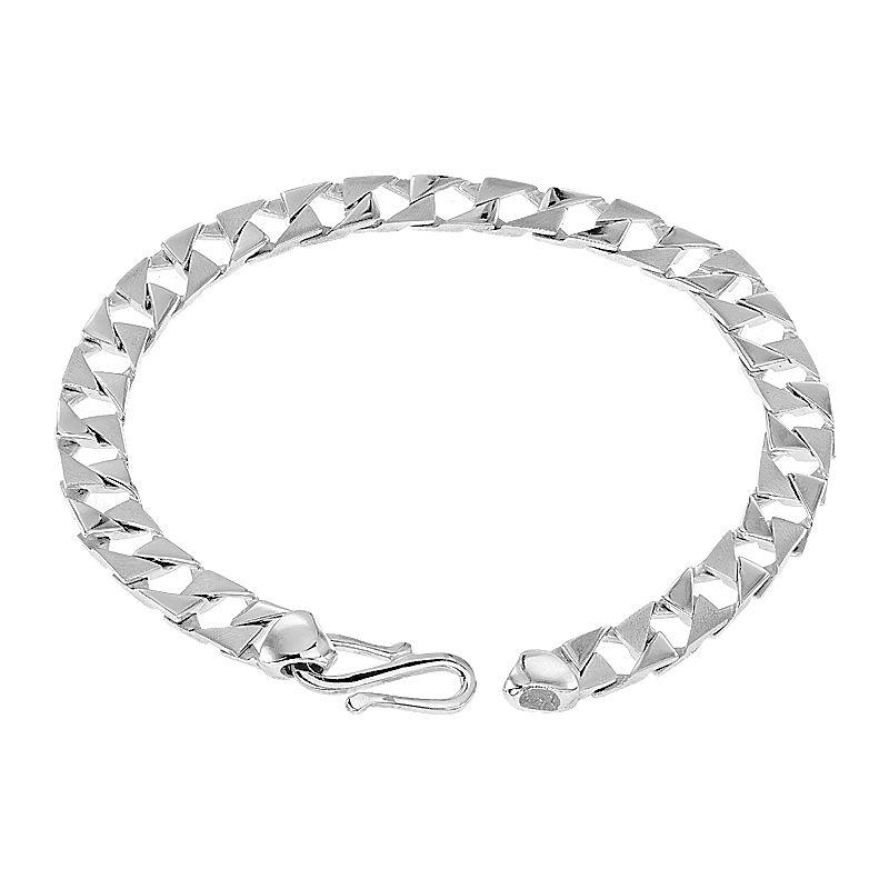 950 Platinum Square Cuban Platinum Bracelet