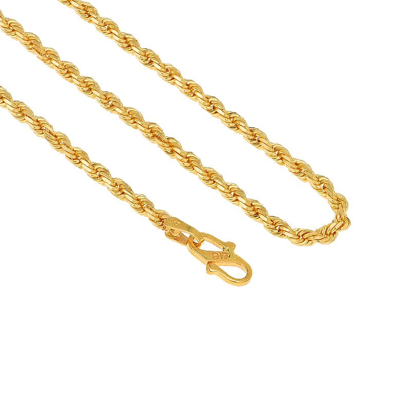 22k Gold Gold Rope Chain - 24.5