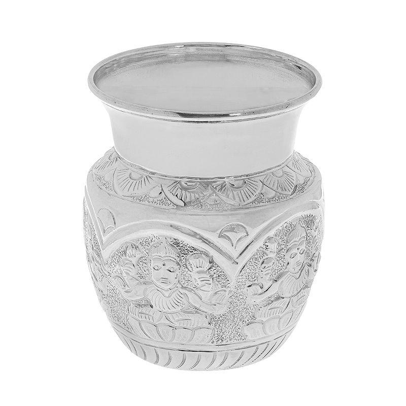 0.995 Silver Ashta Lakshmi Silver Kalash