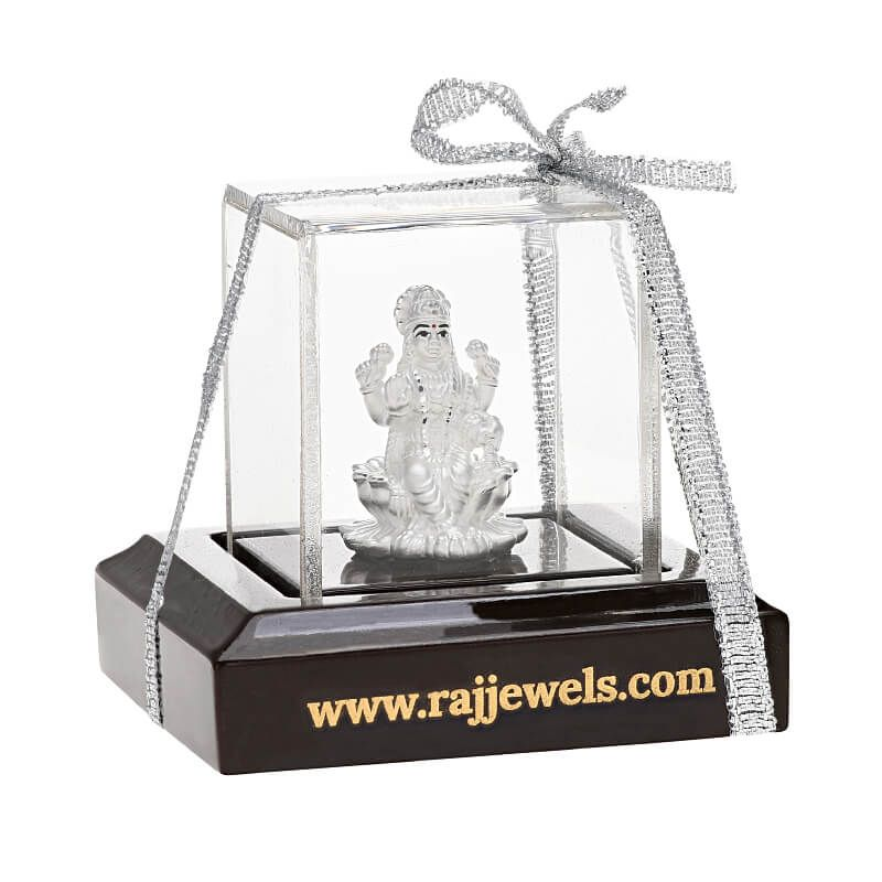 0.999 Silver Small Lakshmi Silver Statue