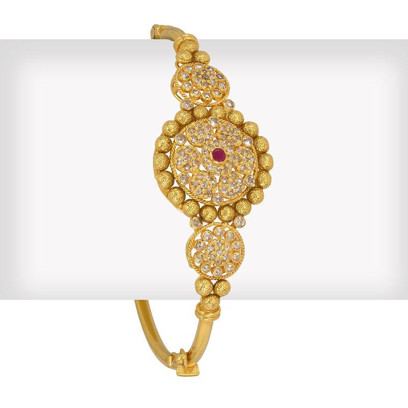 18k Diamond Sargun Diamonds Bangle Bracelet