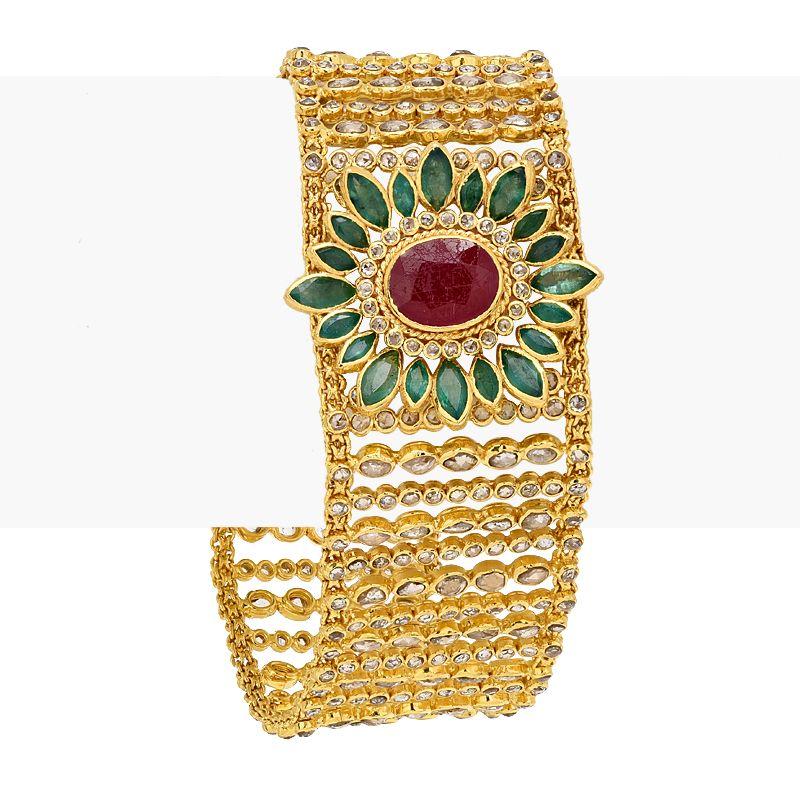 22k Diamond Uncut Diamonds Fancy Bracelet
