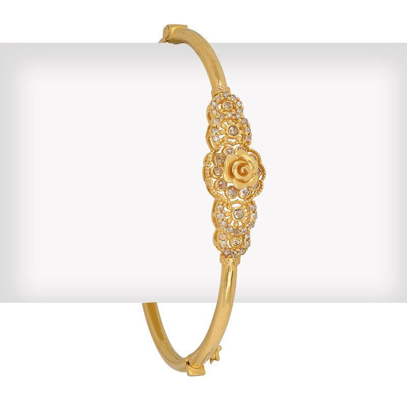 22k Diamond Floresel Diamonds Bangle Bracelet