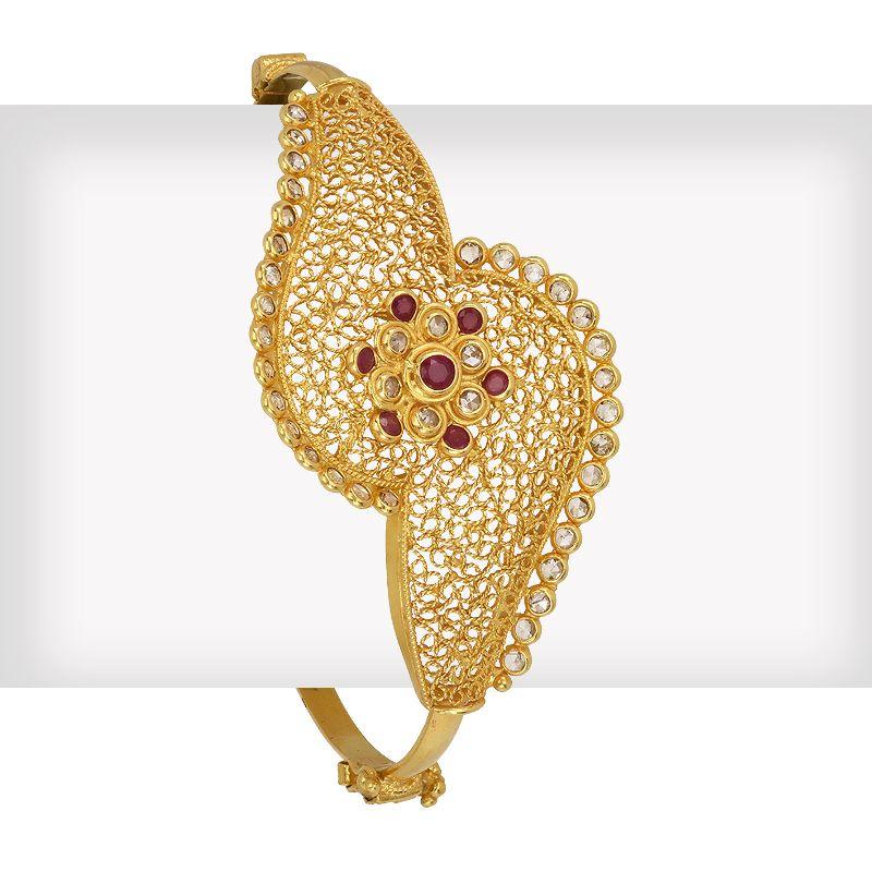 18k Diamond Eclair Uncut Bangle Bracelet